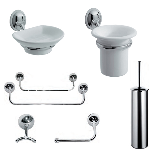 Accessori Da Bagno Carbonari.Kit Accessori 8 Pezzi Fly