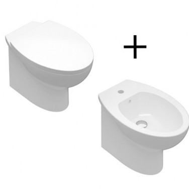 COPPIA VASO + BIDET S. SIMPLE FILOMURO